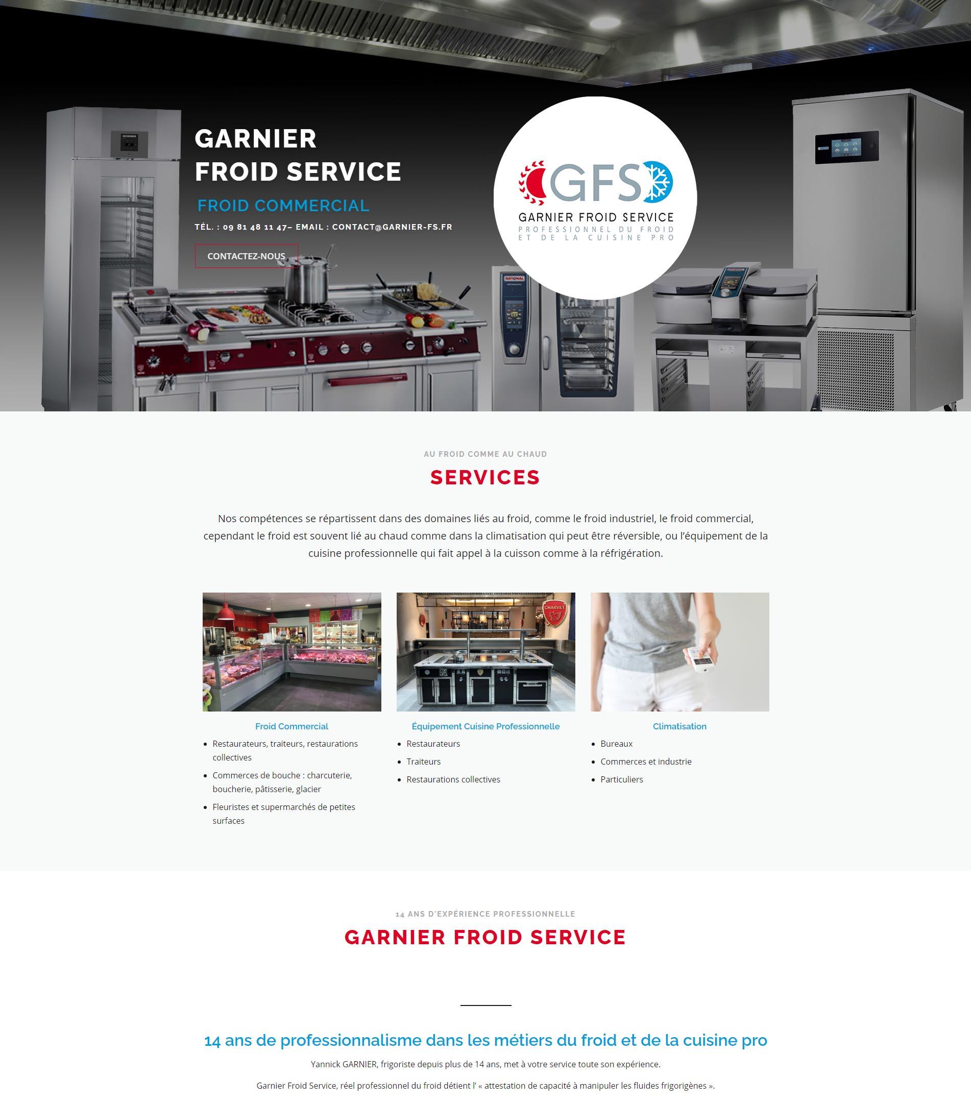 Garnier Froid Service - site internet sur mesure
