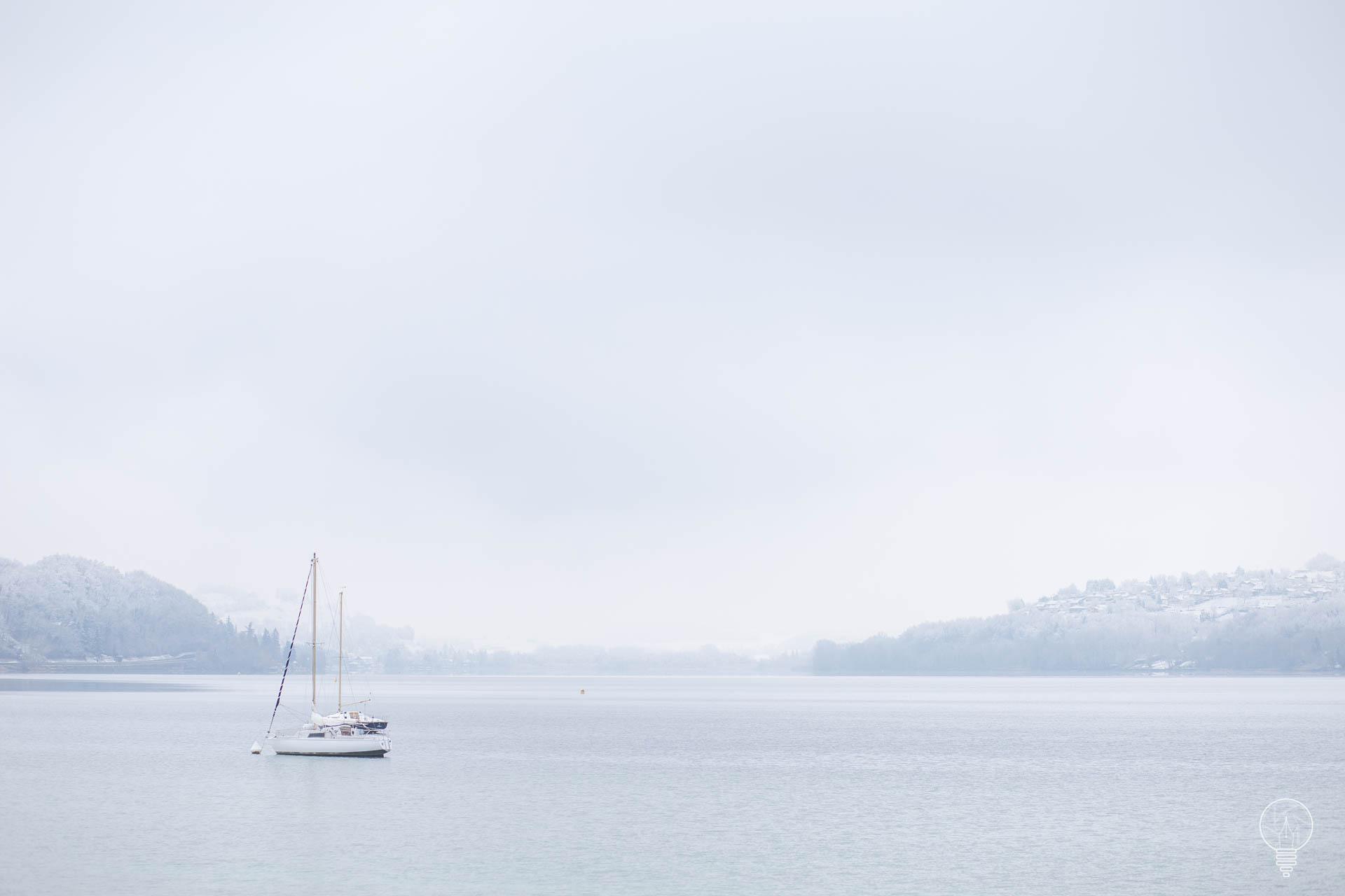Lac de Paladru en hiver