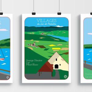 Affiche Grange Dîmière - Villages du Lac de Paladru